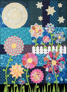 Spring at Midnight quilt pattern at Paula Storm Designs
