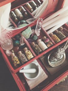 The Witch's Charm Box Pink by MoveWithTheMoon on Etsy