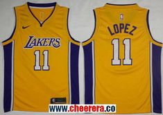lowest price 52df8 a3e88 Men s Nike Los Angeles Lakers  11 Brook Lopez Gold NBA Swingman Icon Edition  Jersey