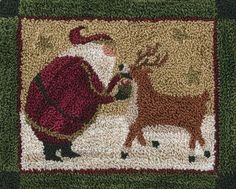 Tis the Season by Teresa Kogut Punch Needle Pattern x Weaver's Cloth and Paper Pattern for tracing included Uses a 3 strand needle Punch Needle Kits, Punch Needle Patterns, Christmas Punch, Christmas Crafts, Christmas Sewing, Christmas Stuff, Christmas Ideas, Weavers Cloth, Rug Hooking Designs