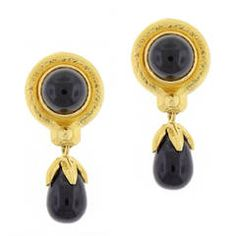 Elizabeth Locke Drop Black Spinel Earring .......... $3,200