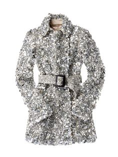 A very sparkly Burberry trench