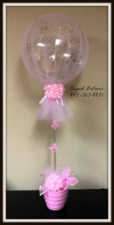 Balloon Centerpieces, Baby Shower Centerpieces, Balloon Decorations, Baby Shower Favors, Tulle Balloons, Baby Shower Balloons, Birthday Balloons, My Little Pony Balloons, Gift Card Bouquet