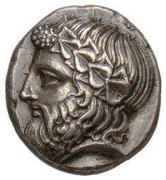 Tetradracma - argento - Tasos, Tracia, Grecia ((400-350 a.C.) - Dioniso di profilo vs.sn. con corona di edera - Münzkabinett Berlin
