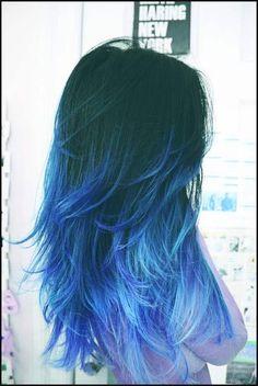 25 Rote, Blaue und Lila Ombre Haare Farben zu Leuchten // #Blaue ... | Einfache Frisuren