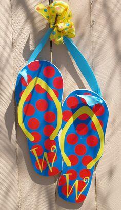 Personalized Flip Flop Decoration