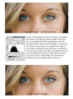 Tips for making eyes stand out in portraiture kayla_carlisle Photoshop Photography, Photography Tutorials, Photography Tips, Photography Essentials, Tutorial Photoshop, Photoshop Tips, Photoshop Elements, Fotografia Tutorial, Canon 7d