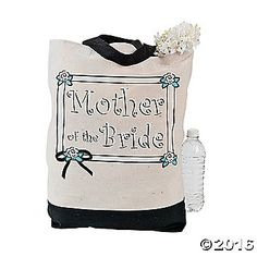 """Mother Of The Bride"" Tote Bag. A thoughtful gift for the Mother of the Bride, this pretty polyester canvas tote is perfect for organizing ..."