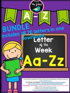 Have fun while learning the alphabet!Not sure if this is for you? Download the FREE Letter A sample here: https://www.teacherspayteachers.com/Product/Letter-of-the-Week-A-1733668 Alphabet PrintablesIncludes over 130 page bundle includes at least 5 pages per letter! -NO PREP Print & go worksheets-Vocabulary -word wall cards in color & B&W-matching-puzzleThanks for shopping!Love, Ms.
