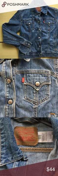 Levi's classic denim jacket, S Classic denim jacket in great condition! Levi's Jackets & Coats Jean Jackets