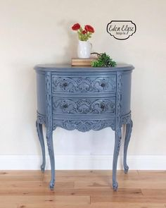 Stillwater Blue Accent Table | General Finishes Design Center - painted furniture - painted table