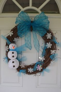 Snowman Wreath. $35.00, via Etsy.