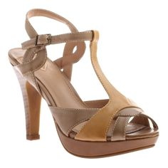 MADELINE: Top Drawer in Mid Taupe | JoliWorld. A combination pump that is a mix of cut-outs and peep toe style with spectro heel from man-made lining and upper.
