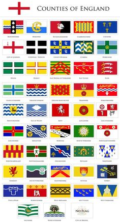 the counties of England.of the counties of England. England And Scotland, England Uk, Flag Of England, County Flags, Kingdom Of Great Britain, Thinking Day, Flags Of The World, East Sussex, British History