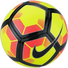The Nike Pitch football features high-contrast graphics for high visibility during play and practice, while a durable, responsive construction offers truer flight off the foot. High Contrast, Soccer Ball, Pitch, Football, Nike, Sports, Black, Products, Construction