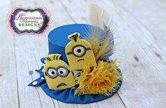Adorable Minion Mini Top Hat Birthday Hat Photo Prop by ShopPMD, $23.00