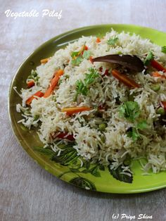 Vegetable Pilaf is a rice dish which I have cooked in an easy way in rice cooker. This Pilaf or pulao is a one-pot dish which you can simply serve with some raita or dal of your choice. I always look for easy dishes to make during week days or if I have sudden guests...Read More »