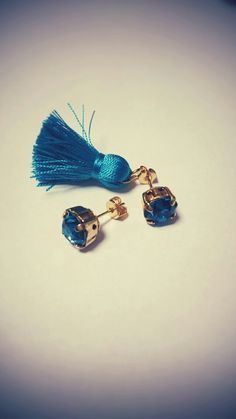 tassel pierced earrings
