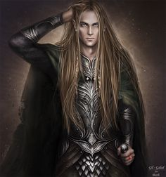And when the tidings came to Balar of the fall of Gondolin and the death of Turgon, Ereinion Gil-galad son of Fingon was named High King of the Noldor in Middle-earth. ~ The Silmarillion, Chapter 23 (Gil-Galad by Kaprriss, deviantART) Fantasy Male, High Fantasy, Fantasy Warrior, Fantasy Rpg, Medieval Fantasy, Fantasy World, Tolkien, Hobbit, Thranduil