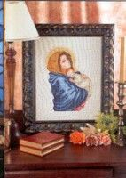 This is the colour shot of the two black and white patterns. Cross Stitch Angels, Cross Stitch Love, Cross Stitch Borders, Cross Stitching, Cross Stitch Patterns, Religious Cross, Jesus On The Cross, Christmas Embroidery, Christmas Cross