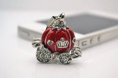 Red Cinderella's pumpkin carriage cell phone strap, fairy tale Dust Plug, for iphone 4 4S ipad all 3.5mm Plugy