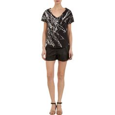 Paint splattered perfection | Raquel Allegra Paint-splattered Short-sleeve Sweatshirt | Pretty Little Liars