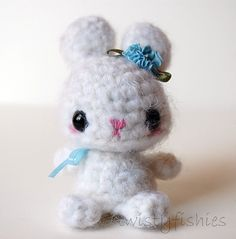 SALE  White Bunny  Kawaii Amigurumi Plush by twistyfishies on Etsy
