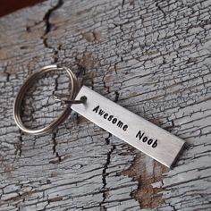 Custom Keychain, best friend keychain, personalized keychain,Hand Stamped keychain,Geek key chain