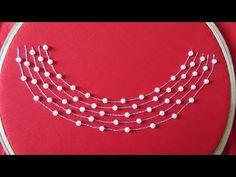Hand Embroidery | Dress Design/Neck Design By Aari/Maggam Work | Aari Work #2 - YouTube Simple Hand Embroidery Patterns, Kurti Embroidery Design, Hand Embroidery Videos, Hand Work Embroidery, Embroidery Flowers Pattern, Flower Embroidery Designs, Kutch Work Designs, Beaded Jewelry Designs, Kerala Saree