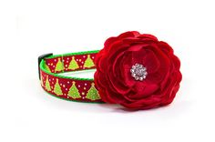 Christmas Dog Collar 1 inch width Adjustable by MonicaAnnPets