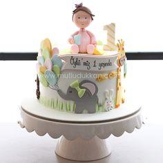 Little Elephant First Birthday Cake