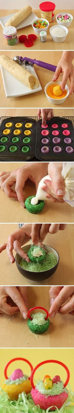 DIY Easter Basket Cookies Pictures, Photos, and Images for Facebook, Tumblr, Pinterest, and Twitter