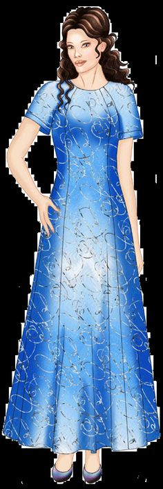preview - #5591 Dress With Shiffon Raglan Sleeves