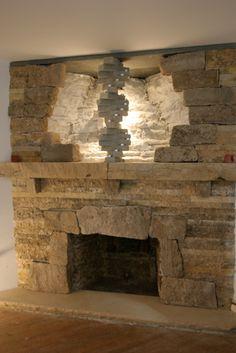 Chimeneas de ladrillo buscar con google etxetxoko pinterest chimenea de ladrillo - Piedras para chimeneas ...