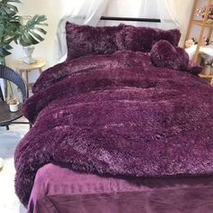 SOFO Coral Fleece Shearling Bedding Set Quilt Cover Bed Sheet Warm Mink Cashmere Cover Pillowcase is hot sale on Newchic with discounts. Velvet Bedding Sets, Linen Bedding, Comforter Sale, Satin Bedding, Girl Bedding, Boho Bedding, Bed Linens, Girls Bedroom, Bedroom Decor