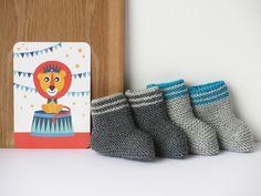 Chaussons en laine pour bébé / Wool baby slippers