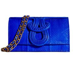 Nell Snake Bag in Electric Blue @ Elyse and I