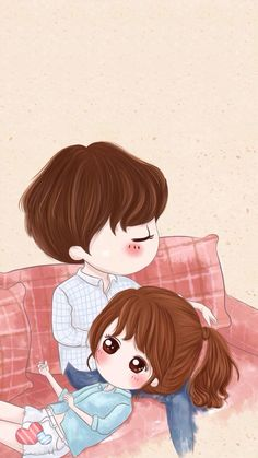 My Baba and Aanay Cute Love Pictures, Cute Cartoon Pictures, Cartoon Pics, Cute Images, Love Cartoon Couple, Cute Love Cartoons, Anime Love Couple, Chibi Couple, Cute Couple Drawings