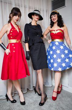 Retro Stars Wonder Girl, Katie as Selina Kyle & TheZe as Wonder Woman Lovely ladies!