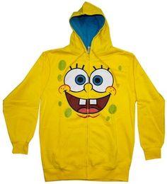 adult winter coats Spongebob