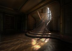 jerzee55:    Forgotten Stairwell… by Niki Feijen  Look at the beautiful floor!