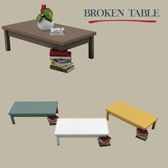 Leo Sims - Broken Coffee Table for The Sims 4