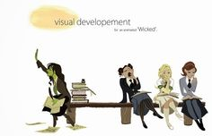 "Oh, how I wish this would happen. (Old) Animation Development Art for ""Wicked"" by Disney Artist Minkyu Lee"
