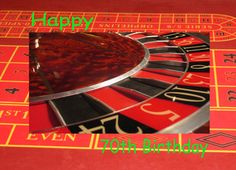 Happy 70th Birthday Roulette Wheel Greeting Card