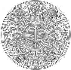 Mandala tortue #mandala #mandalas #coloriage