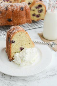 Blueberry Sour Cream Pound Cake Recipe - Julie's Eats & Treats