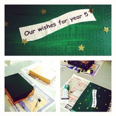 Transition day magic box DIY. Write wishes on postcards and open at the end of the school year to see if they came true.