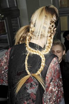 Backstage at Kenzo Fall 2011 #intensehair #intricatehairstyles