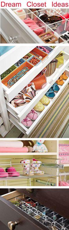 Great Ideas for Closet organization! #closets # Storage #organiation