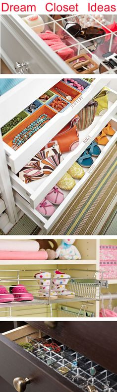 Great Ideas for Closet organization! #closets # Storage #organiation